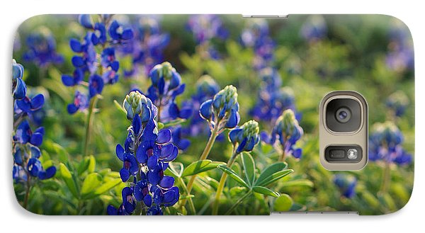 Galaxy Case featuring the photograph Texas Bluebonnets In Early Sun by Lisa  Spencer