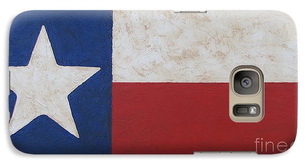 Galaxy Case featuring the painting Texas Flag by Jimmie Bartlett