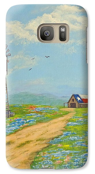 Galaxy Case featuring the painting Texas High Sky by Jimmie Bartlett