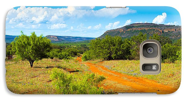 Galaxy Case featuring the photograph Texas Hill Country Red Dirt Road by Darryl Dalton