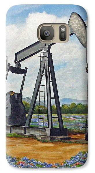 Galaxy Case featuring the painting Texas Oil Well by Jimmie Bartlett