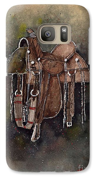 Galaxy Case featuring the painting Texas Slickfork by Tim Oliver