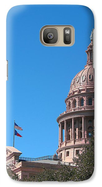 Galaxy Case featuring the photograph Texas State Capitol With Pediment by Connie Fox