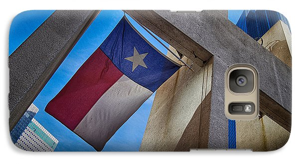 Galaxy Case featuring the photograph Texas State Flag Downtown Dallas by Kathy Churchman