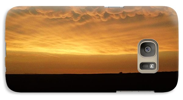 Galaxy Case featuring the photograph Texas Sunset by Ed Sweeney