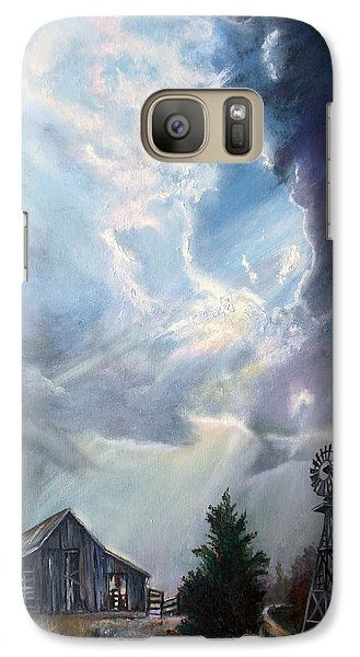 Galaxy Case featuring the painting Texas Thunderstorm by Karen Kennedy Chatham