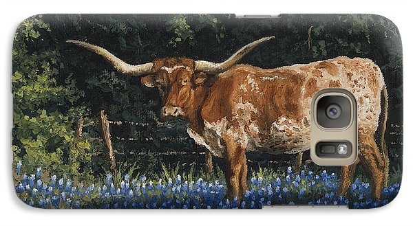 Galaxy Case featuring the painting Texas Traditions by Kyle Wood