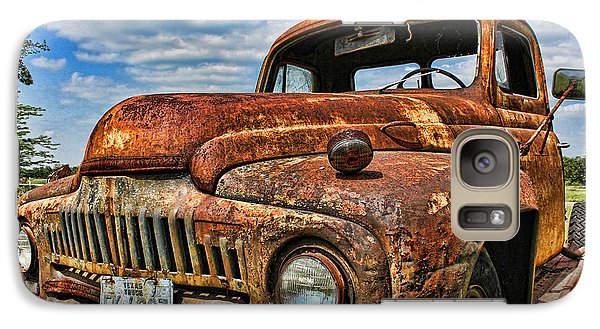 Galaxy Case featuring the photograph Texas Truck by Daniel Sheldon