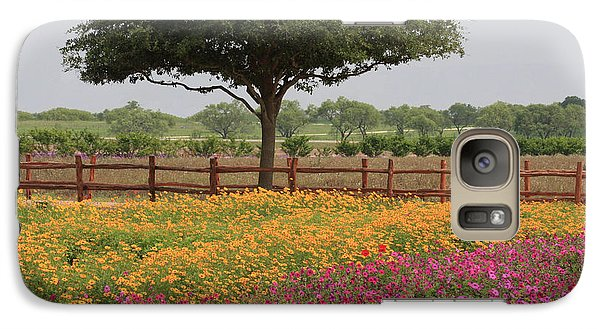 Galaxy Case featuring the photograph Texas Wildflowers by Jerry Bunger