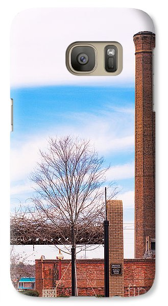 Galaxy Case featuring the photograph Historical Textile Mill Smoke Stack In Columbus Ga by Vizual Studio