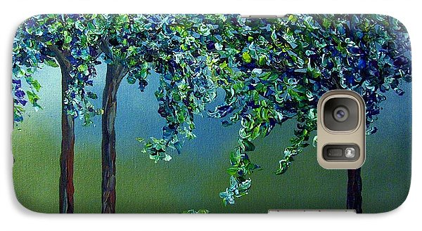 Galaxy Case featuring the painting Texture Trees by Eloise Schneider