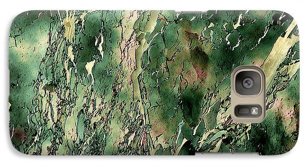 Galaxy Case featuring the photograph Textured Abstraction by Liz  Alderdice