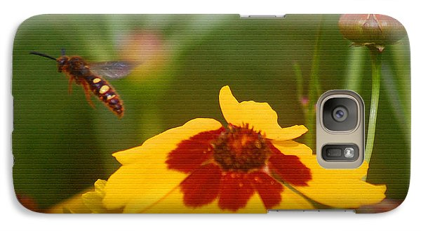 Galaxy Case featuring the photograph Textured Bee by Leticia Latocki