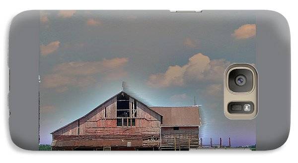 Galaxy Case featuring the photograph Textured - Grey Barn by Gena Weiser