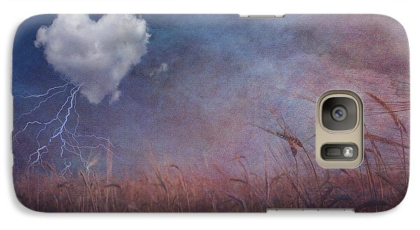Galaxy Case featuring the digital art Textured Heart Cloud And Open Field by Bruce Rolff