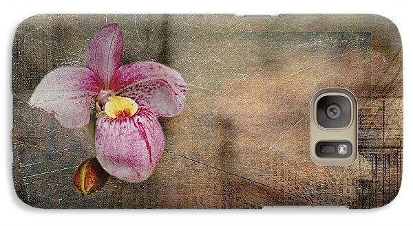 Galaxy Case featuring the photograph Textured Orchid by Vicki DeVico