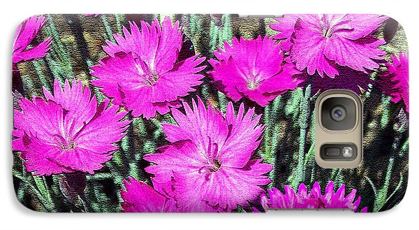 Galaxy Case featuring the photograph Textured Pink Daisies by Gena Weiser