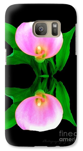 Galaxy Case featuring the photograph Textured - Pink Lily by Gena Weiser