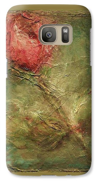 Galaxy Case featuring the painting Textured Rose Art by Mary Wolf