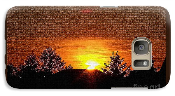 Galaxy Case featuring the photograph Textured Rural Sunset by Gena Weiser