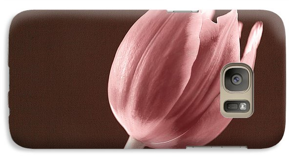 Galaxy Case featuring the photograph Textured Sepia Tulip by Eden Baed