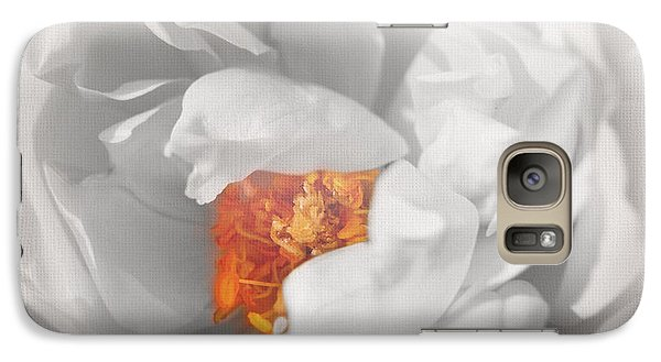 Galaxy Case featuring the photograph Textured Summer Rose by Eden Baed