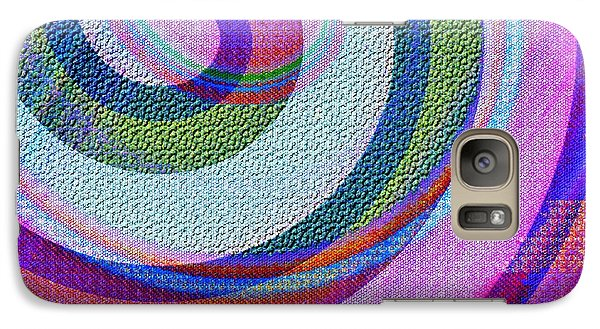 Galaxy Case featuring the painting Textured Swirl Abstract by Jessica Wright