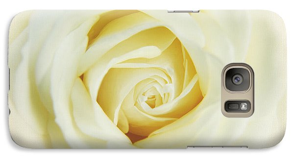 Galaxy Case featuring the photograph Textured White Avalanche Rosd by Eden Baed