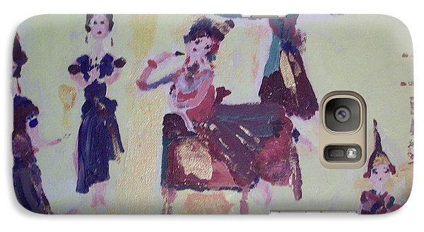 Galaxy Case featuring the painting Thai Dance by Judith Desrosiers