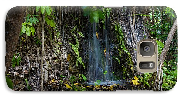 Galaxy Case featuring the photograph Thailand Waterfall by Mike Lee