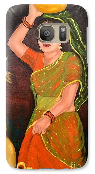 Galaxy Case featuring the painting Thamizhachi by Brindha Naveen