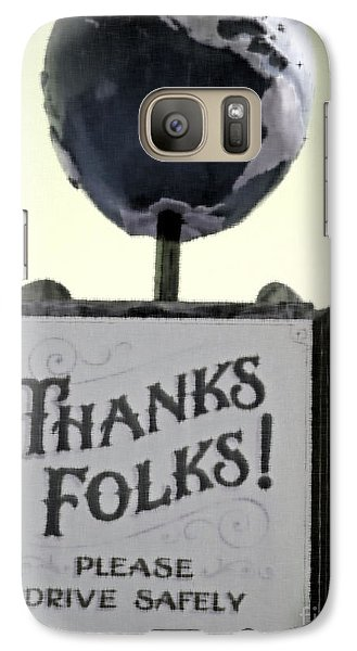 Galaxy Case featuring the photograph Thanks Folks by Beth Saffer