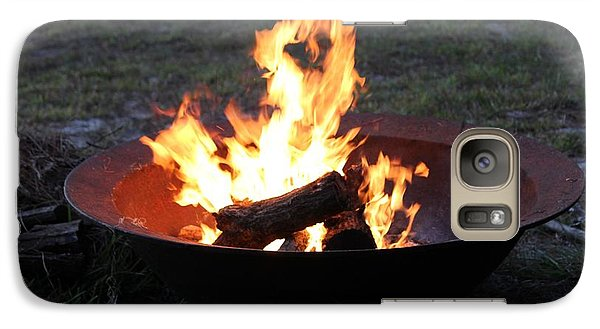 Galaxy Case featuring the photograph Thanksgiving Fire by Lorna Maza