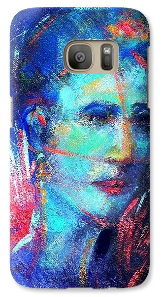 Galaxy Case featuring the painting That Moment by Jodie Marie Anne Richardson Traugott          aka jm-ART