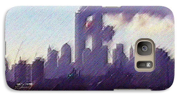 Galaxy Case featuring the digital art That Mourning by Kosior