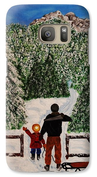 Galaxy Case featuring the painting That One by Celeste Manning