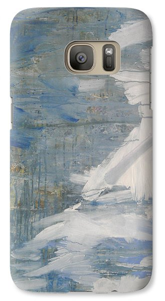 Galaxy Case featuring the painting Thaw Water Ice Abstraction by John Fish