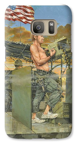Galaxy Case featuring the painting The 458th Transortation Co. In Vietnam. by Bob  George