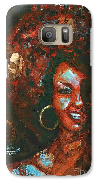 Galaxy Case featuring the painting The 70s Were The Best by Alga Washington