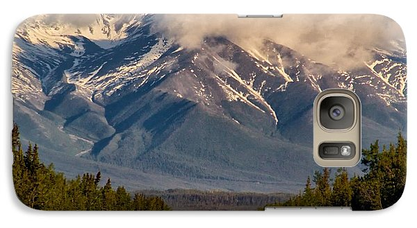 Galaxy Case featuring the photograph The Alaska Highway Tok Junction Alaska by Michael Rogers