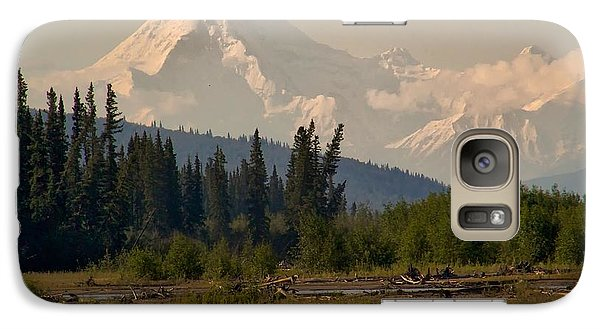 Galaxy Case featuring the photograph The Alaska Range At Mount Hayes by Michael Rogers