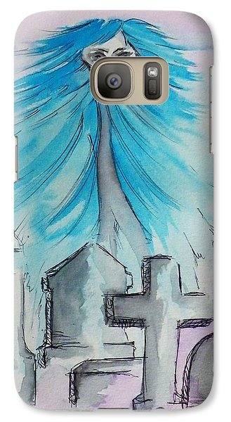 Galaxy Case featuring the painting The Albino Woman Of Topeka by The GYPSY And DEBBIE