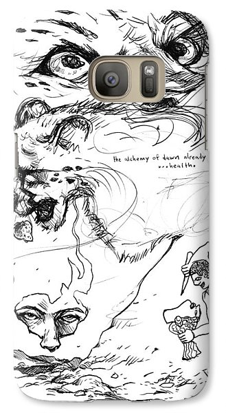 Galaxy Case featuring the drawing The Alchemy Of Dawn by John Ashton Golden