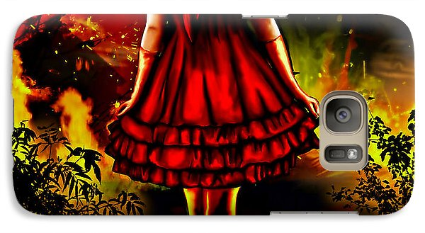 Galaxy Case featuring the painting The Alice Girl by Persephone Artworks