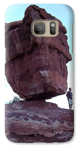 Galaxy Case featuring the photograph The Amazing Balanced Rock 2 by Sheila Byers