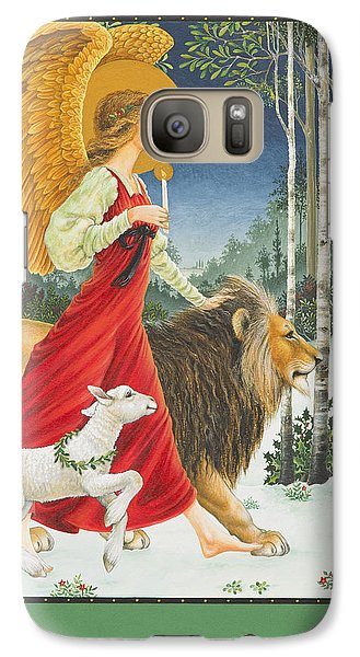 Lion Galaxy S7 Case - The Angel The Lion And The Lamb by Lynn Bywaters