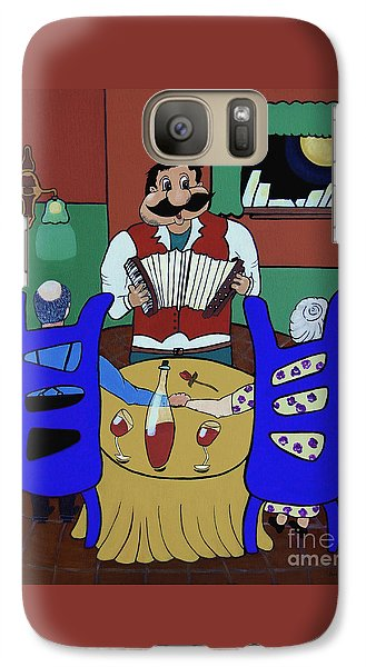 Galaxy Case featuring the painting The Anniversary by Barbara McMahon