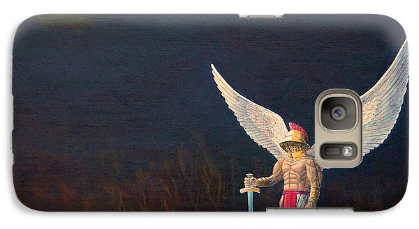 Galaxy Case featuring the painting The Anointing Of St Michael by Anthony Lyon