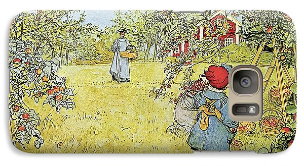 Rural Scenes Galaxy S7 Case - The Apple Harvest by Carl Larsson