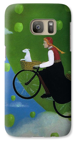 Galaxy Case featuring the painting The Apple Transport by Tone Aanderaa
